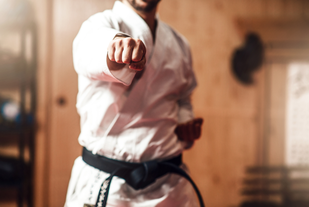 Martial,Arts,Master,On,Fight,Training,In,Gym